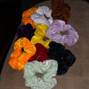Accessories - 10 for $8 assorted new velvet scrunchies!